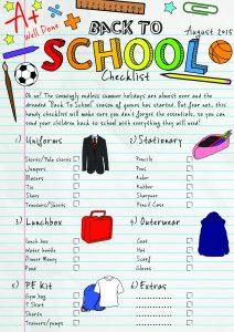 Back to School Free Printable Checklist