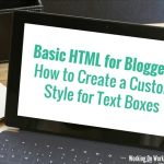 HTML Tip: How to Create a Custom Style for Text Boxes