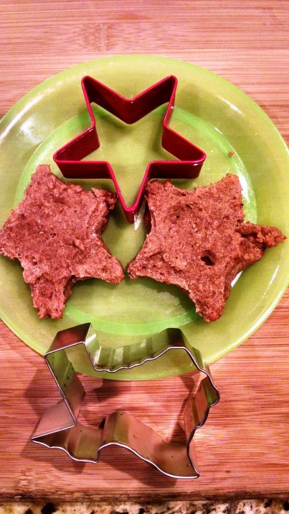 teething biscuit star shape