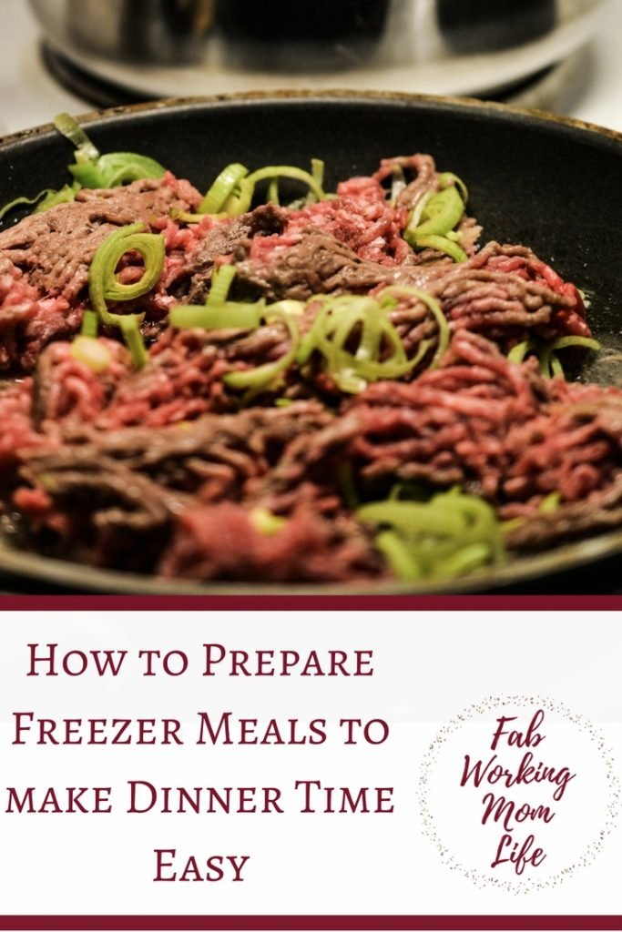 Freezer Meals make Dinner Time easy