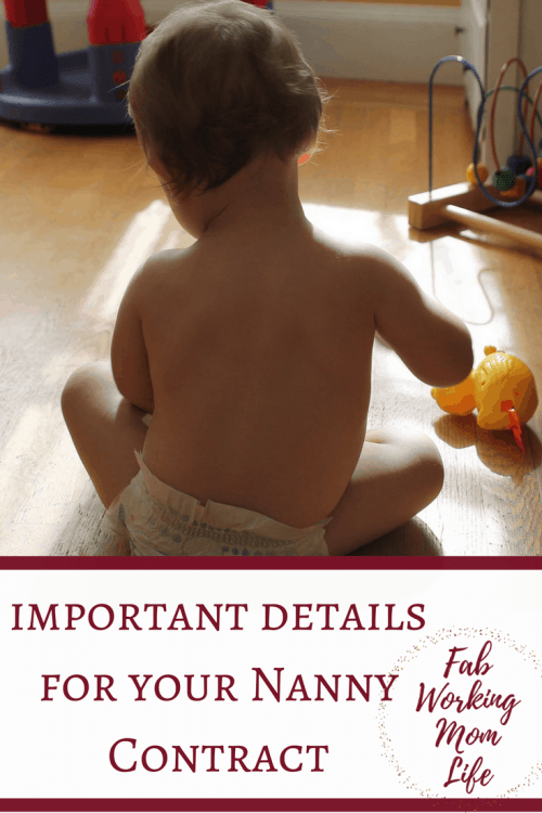What important details you should include in a Nanny Contract