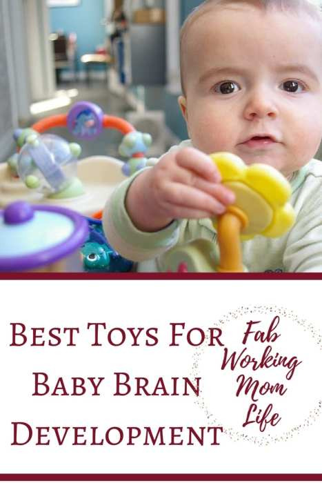 The best toys for brain development for your child will vary depending on their age. Brain toys for babies help them find new ways to develop their senses. Put these brain boosting toys for babies on your registry!