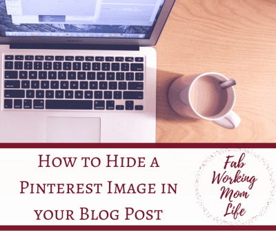 Hide a Pinterest Image in your Blog Post