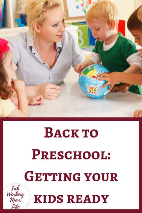 Back to preschool getting your kids ready