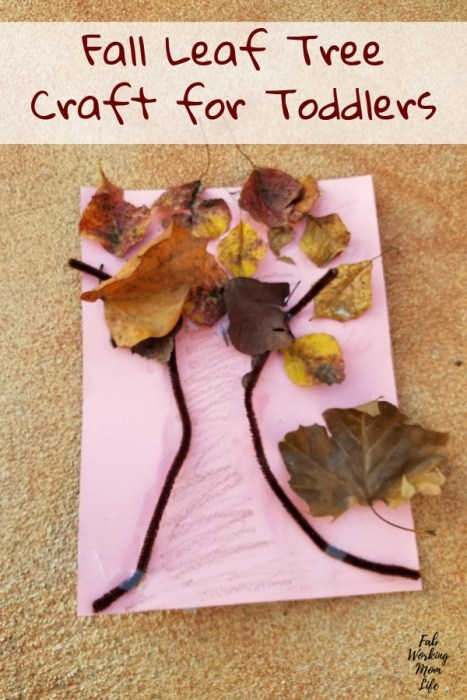 Fall Leaf Tree Craft for Toddlers | Fab Working Mom Life #parenting #fall #toddlers #toddleractivity #fallactivities #preschooler #toddlercraft
