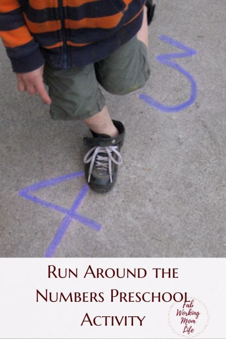 Run Around the Numbers Preschool Activity