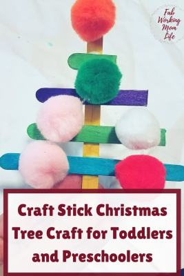 Craft Stick Christmas Tree Craft for Toddlers and Preschoolers