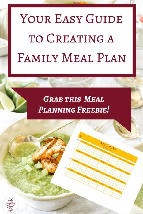 Your Easy Guide to Creating a Family Meal Plan - Grab This Meal Planning Freebie