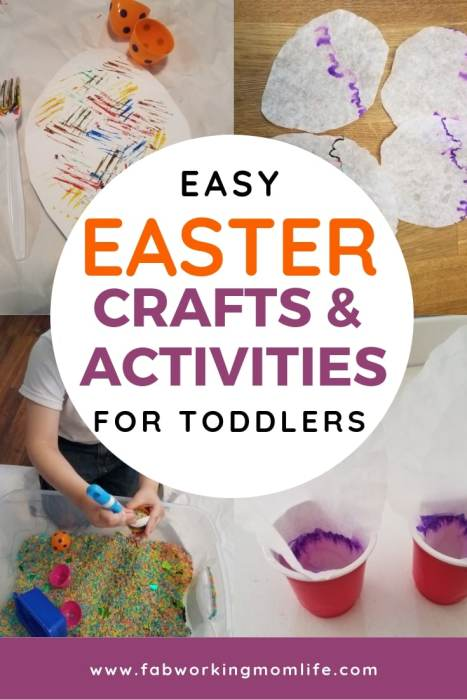 Keep reading for some fun Easter crafts for preschoolers and other ideas for Easter crafts for toddlers to make! | Fab Working Mom Life | #toddlers #preschoolers #eastercrafts #easter #parenting