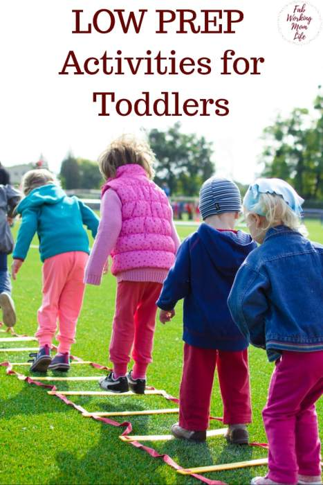 Low Prep Activities for Toddlers | Fab Working Mom Life