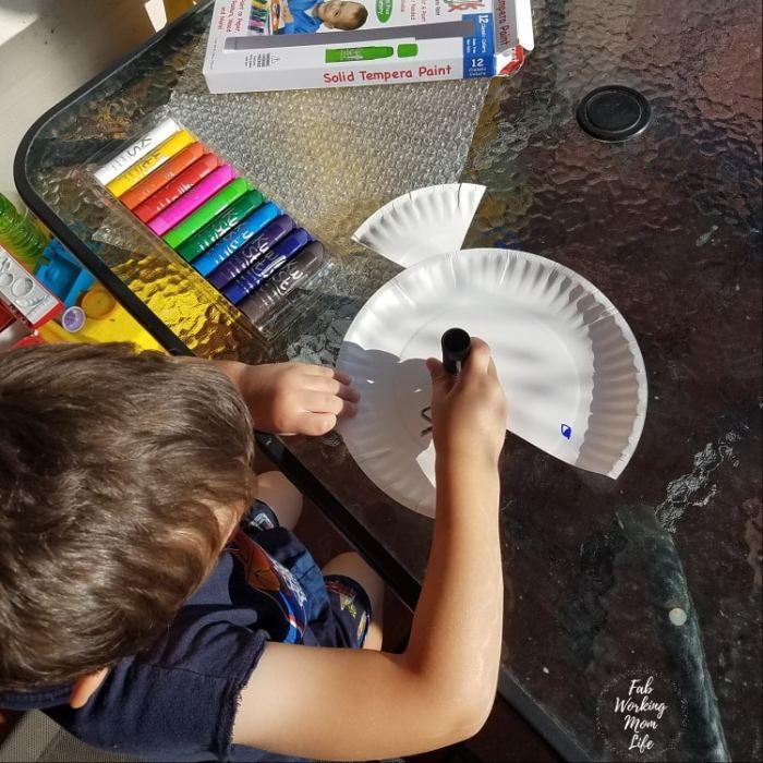 Kwik Stix Summer Toddler Craft Fish