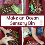 Ocean Sensory Bin play for Toddlers and Preschoolers