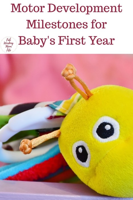 Pregnant or recently had a baby? Learn these motor development milestones for your baby's first year and know what to expect | Fab Working Mom Life #parenting #baby #milestones #motordevelopment #infant #newborn