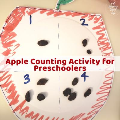 Apple Counting Activity for Preschoolers