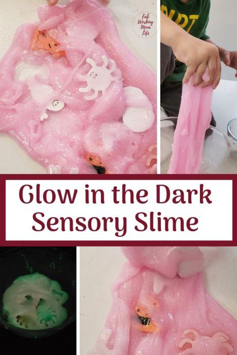 Glow in the dark sensory slime | Fab Working Mom Life