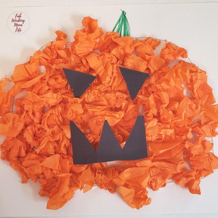 Scrunched Crepe Paper Pumpkin