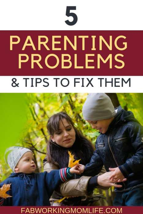 5 parenting problems and solutions