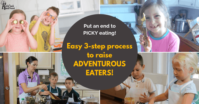 Put an End to Picky eating - easy 3 step process to raise adventurous eaters