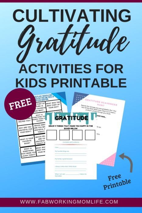 Cultivating Gratitude Activities for kids