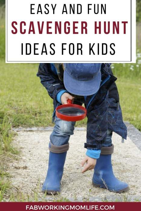easy and fun scavenger hunt ideas for kids