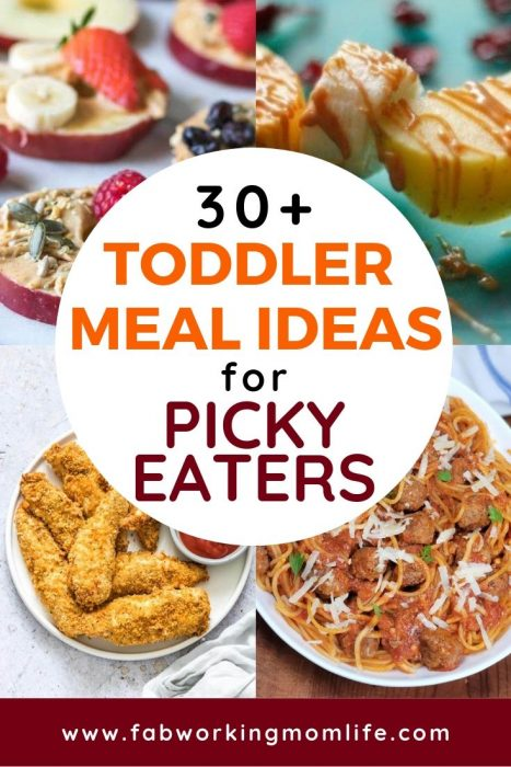 If you're searching for quick and easy toddler recipes and toddler meals for picky eaters you've got to check out this post! This roundup contains healthy toddler meal ideas as well as finger foods for toddlers and 1 year old meal ideas. Keep reading for your toddler meal plan for quick dinner ideas for toddlers! | Fab Working Mom Life #toddler #dinner #feedinglittles #feedingtoddlers #familydinner #workingmom #workingmomlife #parenting