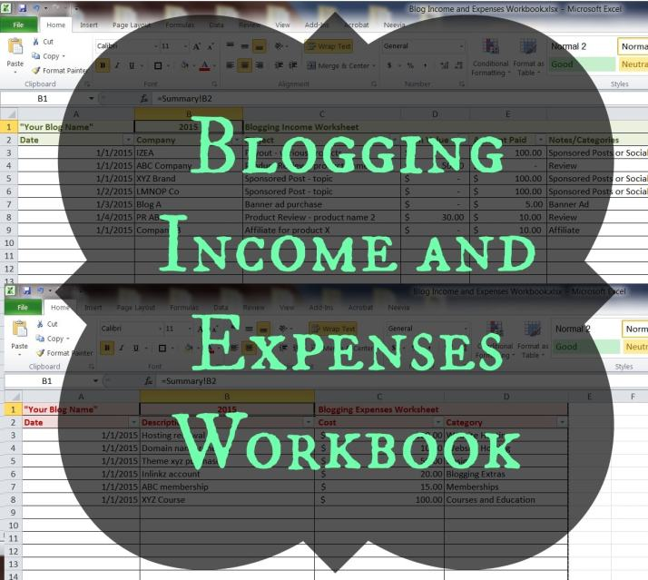 Blog Income and Expenses Workbook | Fab Working Mom Life #bloggingtips #workingmom #income #budget