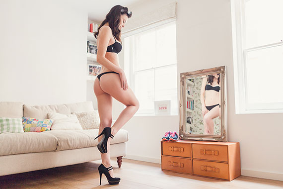 London Boudoir Photography AKA The Round Peg realised the new Enamore Underwear campaign