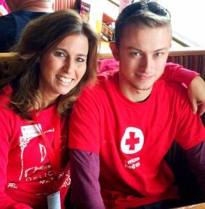 Walker red cross
