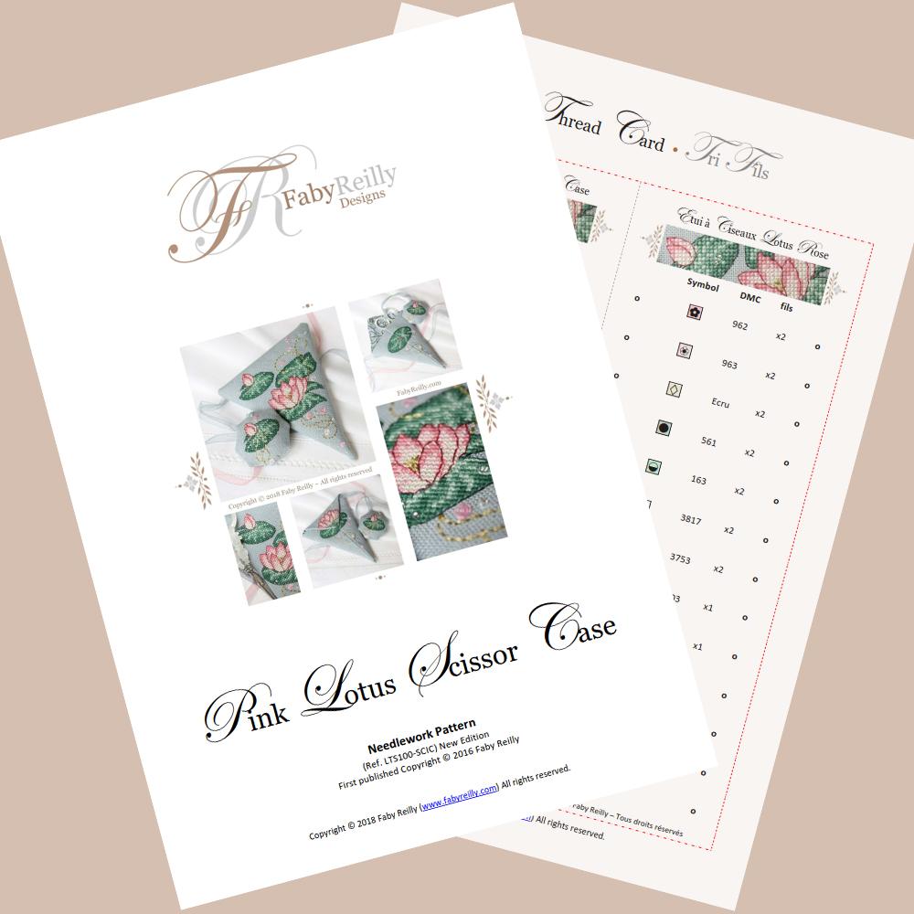 Pink Lotus Scissor Case – Faby Reilly Designs