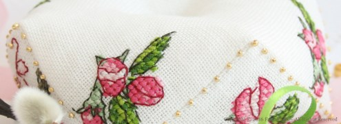 Apple Blossom Biscornu