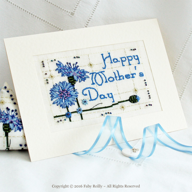 Cornflower Card - Faby Reilly Designs