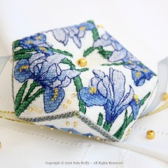Blue Iris Biscornu