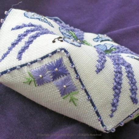 Lavender Biscornu – Faby Reilly Designs