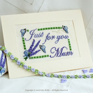 Lavender Card - Faby Reilly Designs
