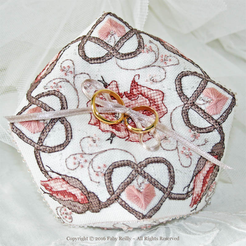 Sepia Rose Biscornu - Faby Reilly Designs