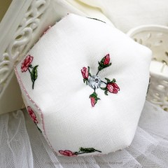 Sweet Roses Biscornu - Faby Reilly Designs