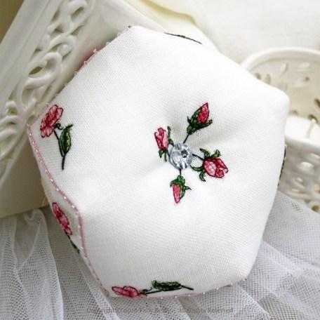 Sweet Roses Biscornu – Faby Reilly Designs