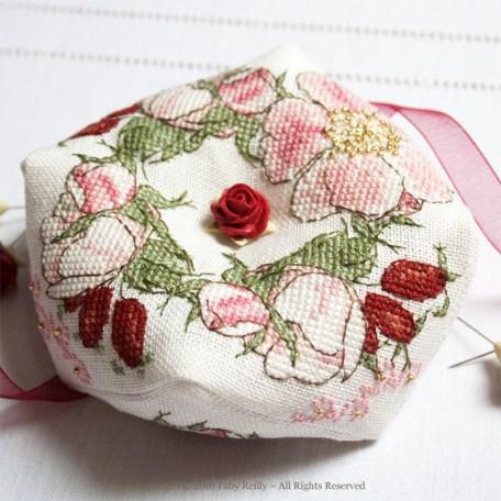 Wild Rose Biscornu