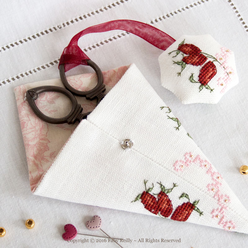 Wild Rose Scissor Case