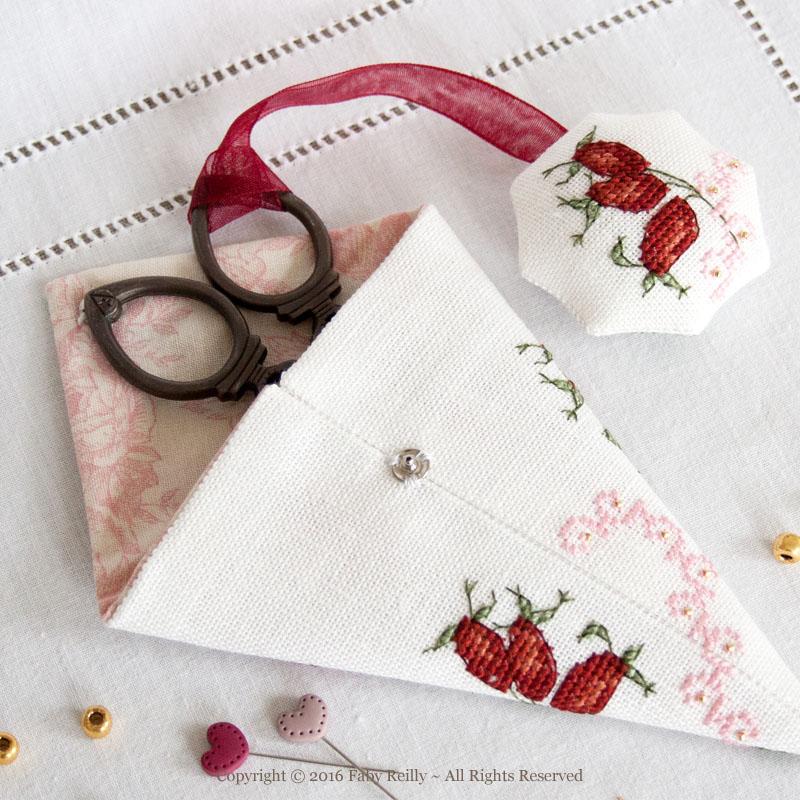 Wild Rose Scissor Case