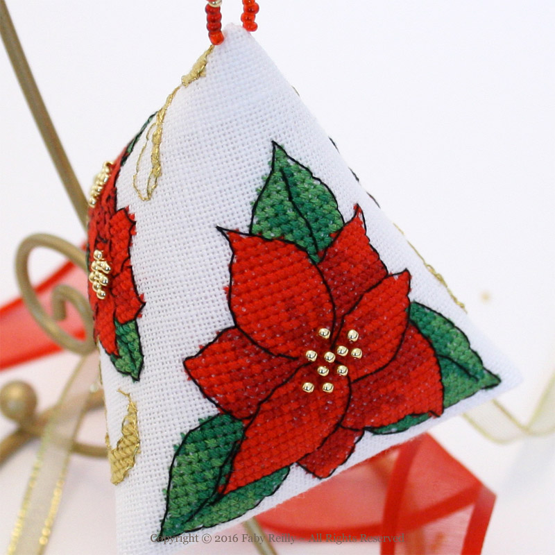Poinsettia and Ribbon Humbug - Faby Reilly Designs