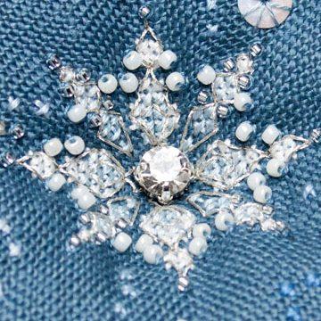 Let it Snow Biscornu - Faby Reilly Designs