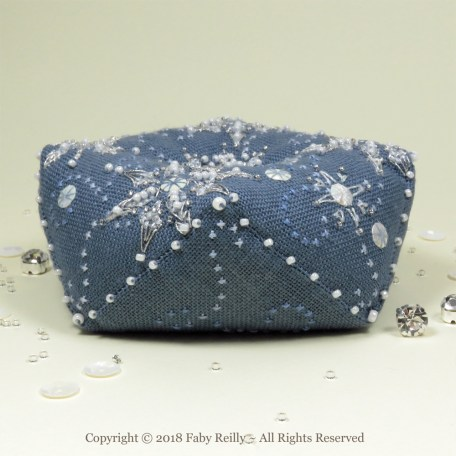 Let it Snow Biscornu – Faby Reilly Designs