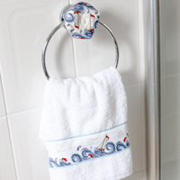 Towel Holder - High Seas Biscornu