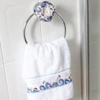 Towel Holder - High Seas Biscornu