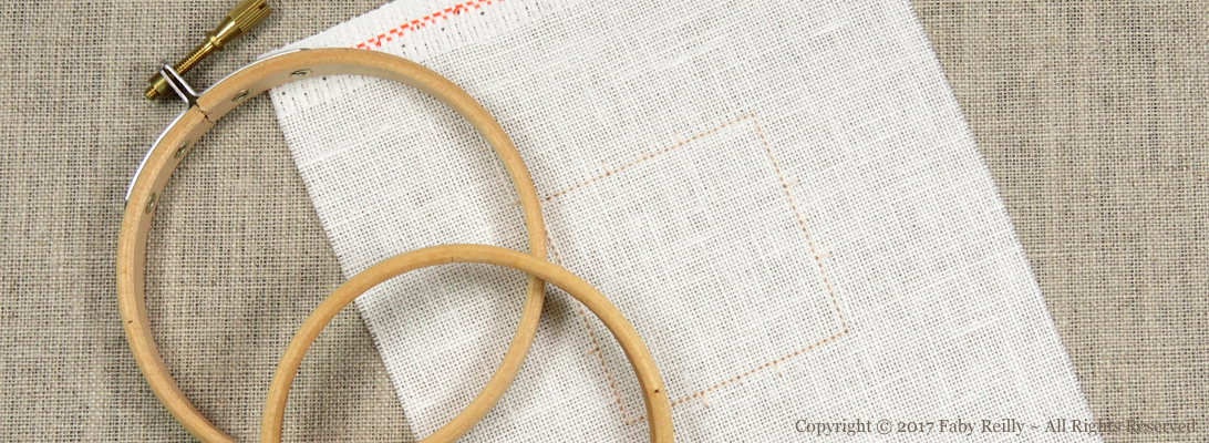 How to put your fabric onto a small embroidery hoop - Faby Reilly Desings