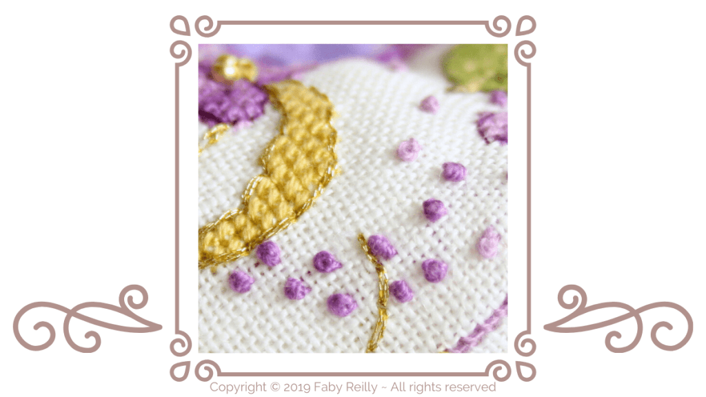 French knot Tutorial - Blog - Faby Reilly Designs