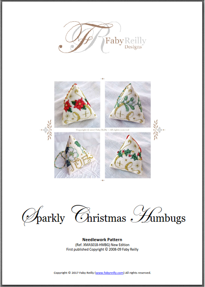 Chart Cover (Sparkly Christmas Humbugs) - Faby Reilly Designs