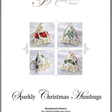 Chart Cover (Sparkly Christmas Humbugs) – Faby Reilly Designs