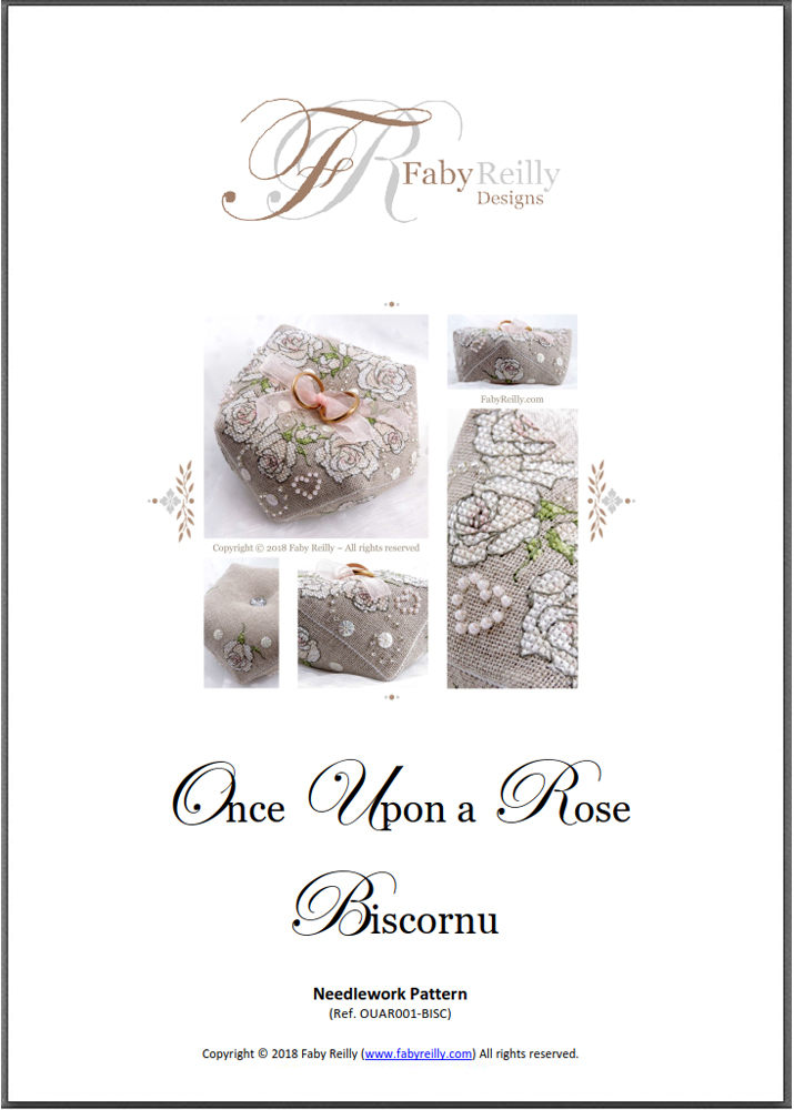 Once Upon a Rose Biscornu - Chart Cover